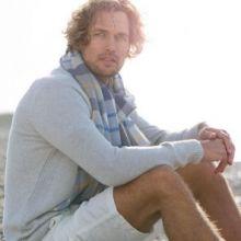 """легкий тонкорунный экстра широкий шарф  """"Фрэйзер """"  Fraser Merino Tartan 100% шерсть мериноса,   плотность 2"""