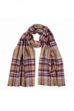 шотландский теплый плотный большой шарф  100% шерсть мериноса Инвернесс (берри) Inverness Flannel Check Berry. плотность 5