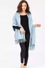 Роскошная классическая шотландская  шаль, высокая плотность, 100 % драгоценный кашемир , расцветка Лунный Свет Moonlight Vintage Blue (премиум)