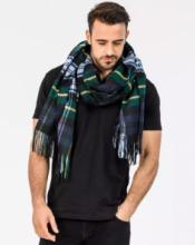 Роскошный большой плотный шарф, высокая плотность, 100 % драгоценный кашемир ,  Тартан клана Гордон (премиум)