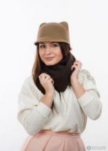 шарф 100% шерсть ягнёнка ,  цвет Шоколад  Chocolate   ,плотность 6