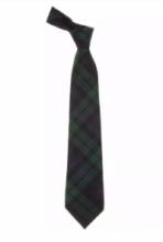 Истинно шотландский клетчатый галстук 100% шерсть , расцветка Блэк Уотч Черная Стража Британской Империи